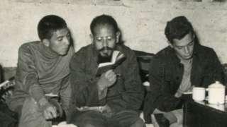 Cabrera en una comuna popular en Pekín en 1966.
