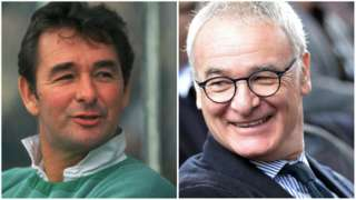 Brian Clough and Claudio Ranieri