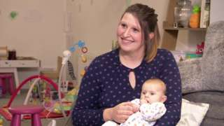 Fiona Sutcliffe, 29, with her baby girl