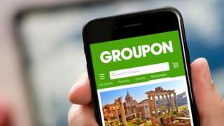 Groupon website on a mobile phone