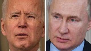 Rais wa Marekani Joe Biden na Rais wa Urusi Vladimir Putin