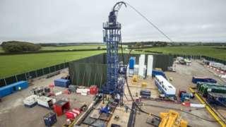 The Cuadrilla fracking site in Preston New Road, Little Plumpton, Lancashire.