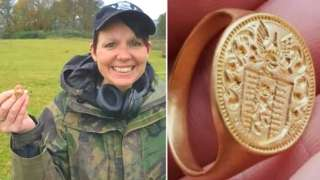 Michelle Vall and the ring she found