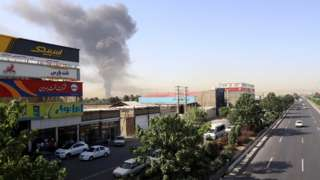 آتش سوزی پالایشگاه تهران