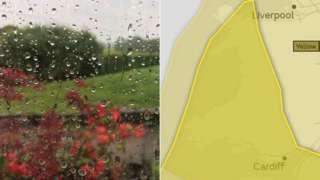 Rain forecast on Monday
