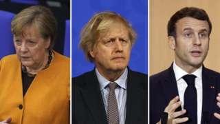 Merkel, Johnson and Macron
