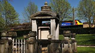 A tomb at St Pancras Old Church in Somers Town