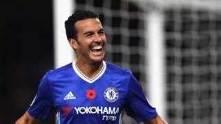 Chelsea's Pedro celebrates