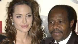 Angelina Jolie y Paul Rusesabagina
