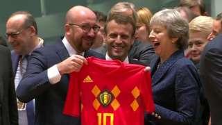 Belgian shirt presented