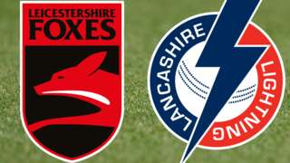 Leicestershire v Lancashire badges
