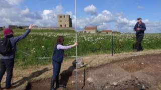 Scarborough Archaeological dig at the castle