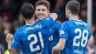 Rangers' Josh Windass celebrates scoring against Hamilton