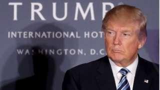 Trump at his Washington DC hotel