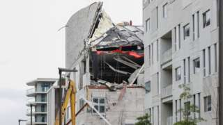 Construction site collapse in Antwerp