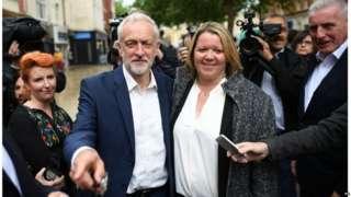 Jeremy Corbyn and Lisa Forbes