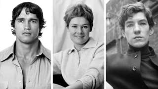 Young Arnold Schwarzenegger, Dame Judi Dench and Sir Ian McKellen