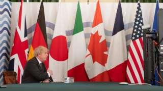 Boris Johnson hosting virtual G7 meeting