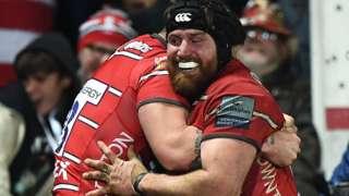 Ben Morgan celebrates