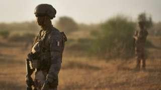 A French soldier in Burkino Faso