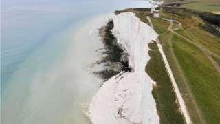 Cliff fall at Beachy Head