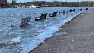 Flooded park