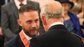 Tom Hardy with Prince Charles