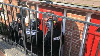 Police raids in East Sussex re modern slavery offences