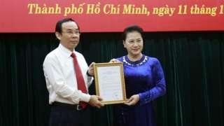 Ông Nguyễn Văn Nên - Bí thư Trung ương Đảng, Chánh Văn phòng Trung ương Đảng - vừa được giới thiệu để bầu giữ chức Bí thư Thành ủy TP HCM.