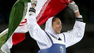 2016-cı ildə Rio Olimpiadasında Kimya Əlizadə taekvondo güləşində İran üçün bürünc medal qazanıb