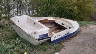 Dumped boat
