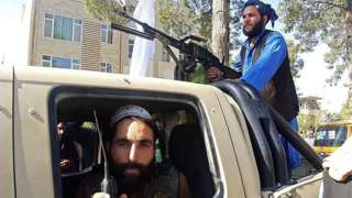 Herat'taki Taliban savaşçıları