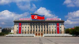 Government building in Kim Il-sung square, Pyongan Province, Pyongyang