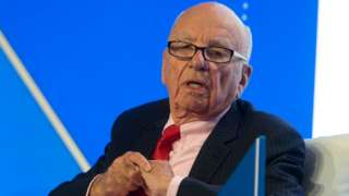 Rupert Murdoch, Executive Chairman News Corporation speaks during a panel discussion.