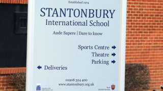 Stantonbury School sign