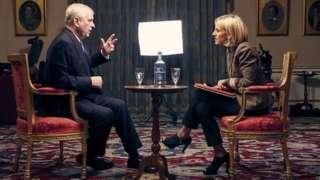Prince Andrew speaks to the BBC's Emily Maitlis