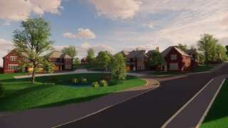 Artist impression of Redrow Homes scheme in Caerleon