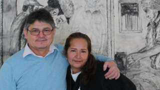 Lindolfo Carballo and Daisy Sánchez at the Wheaton Welcome Centre