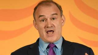 Ed Davey accepts the leadership