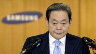 李健熙在首尔三星集团总部会见记者(22/4/2008)