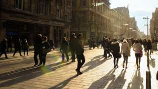 People in Glasgow street