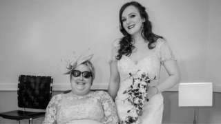 Bev Parsons at the wedding of her daughter, Ella Baxendale