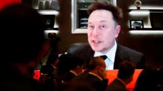 Tesla CEO Elon Musk speaks at a Chinese forum, 20 March 2021