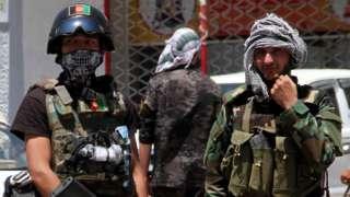 ဟဲရတ်မှာ ကင်းလှည့်နေတဲ့ အာဖဂန် လုံခြုံရေးတပ်ဖွဲ့တွေ