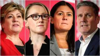 Emily Thornberry, Rebecca Long-Bailey, Lisa Nandy and Sir Keir Starmer are all hoping for the nomination