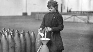 A munitions worker