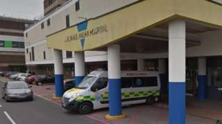 Ambulance at QA Hospital