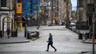 An empty Royal Mile in Edinburgh