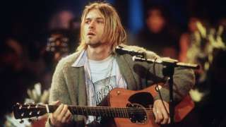 Kurt Cobain playing on MTV's Unplugged in 1993