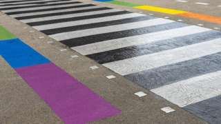 Rainbow zebra crossing